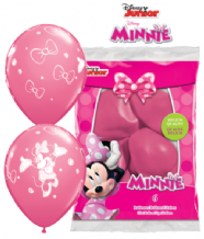 Minnie Mouse Balloons (Rose 6pc) - 11 Inch Balloons